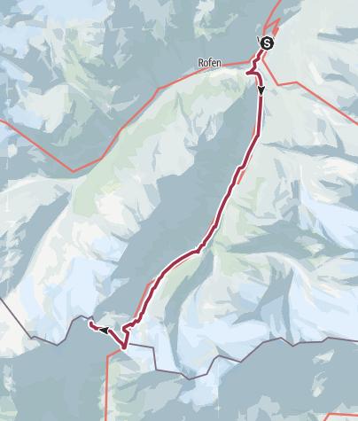 Map / Vent - Similaun - Ötzi-Fundstelle