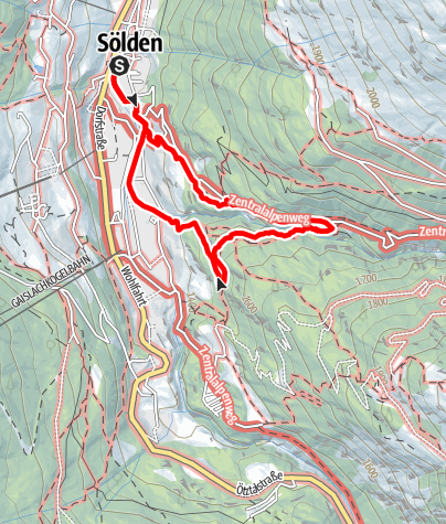 Karte / Wasserläufer Waalweg Mooserstegle