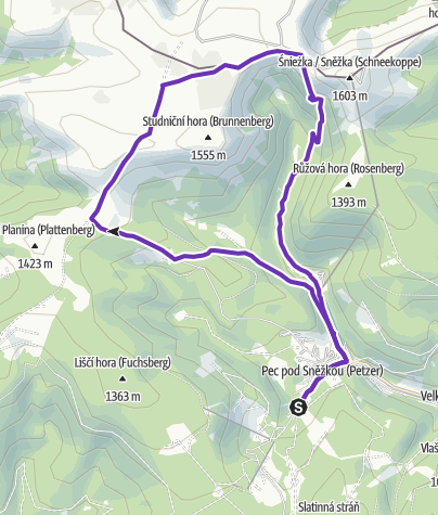 Map / RockPoint Mountain Challenge – Krkonose (SHORT)