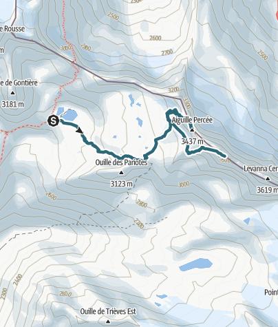 Carte / J4 Refuge Carro ou col - Levanna occidentale par le col des pariotes -