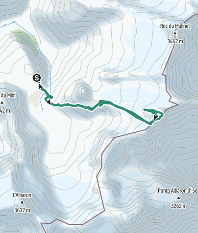 Carte / Pointe Francesetti 3425m