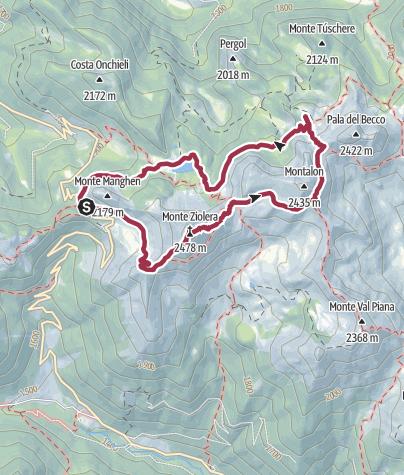Map / Monte Ziolera
