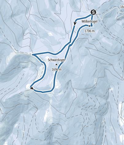 Karte / Schneeschuhwanderung Stubalpe