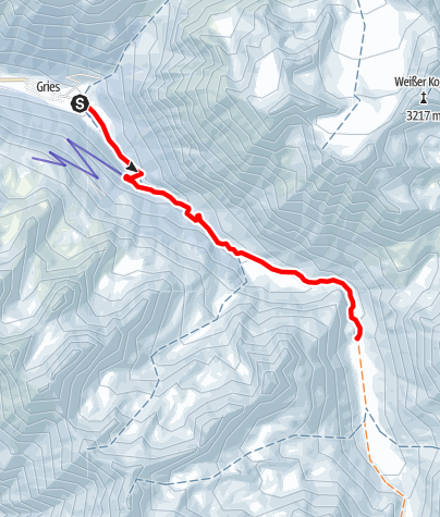 Map / Amberger Hütte with Sulzbergalm