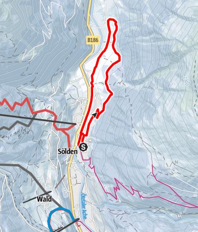 Karte / Rechenaurunde - Sölden