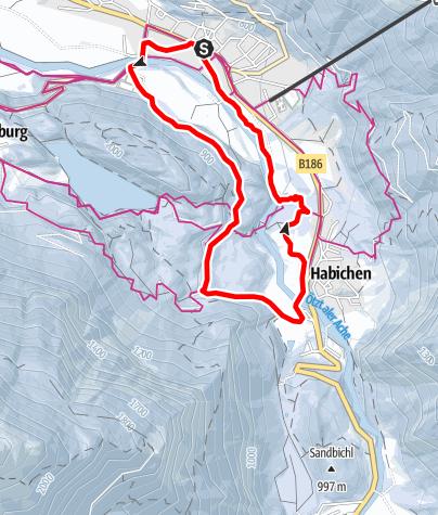 Map / Elsinger Weg - Habichen