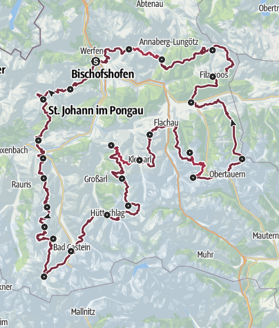 Map / Long-distance hiking on the trail of the Blue Gentian