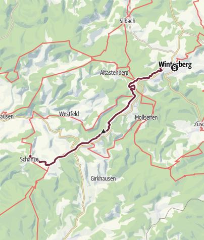 Rothaarsteig Karte.Rothaarsteig 3 Etappe Von Winterberg Nach Schanze Fernwanderweg