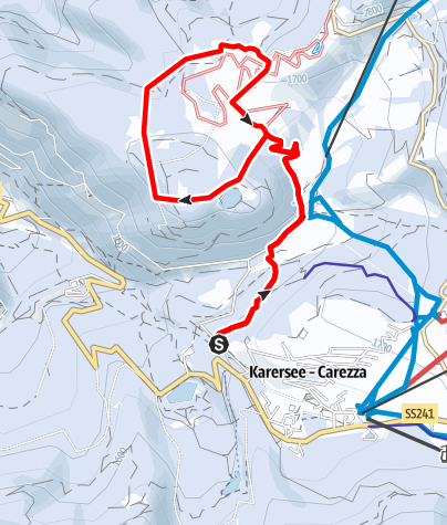 Map / Snowshoe hike Frin