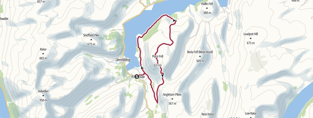 Map / Round Ullswater and up Place Fell