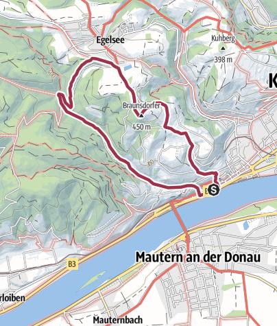 Karte / Braunsdorfer Berg 450 m & Donauwarte