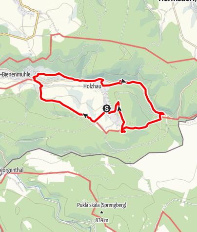 Karte / Rund um Holzhau