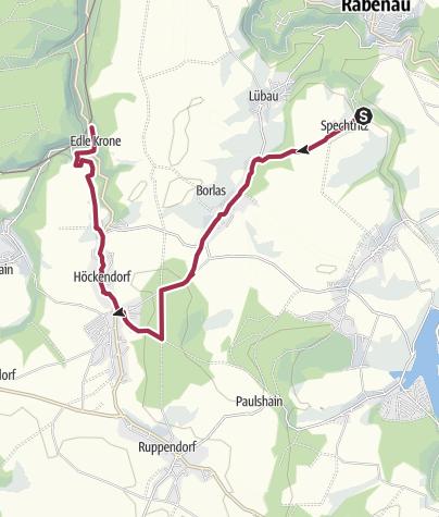Karte / Naturerlebnis zwischen Spechtritzgrund und Edle Krone