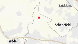 地图 / Schleifenroute - Pony-Waldschänke, Hamburger Staatsforst