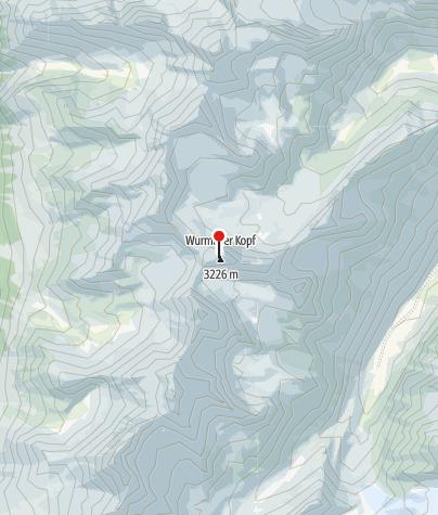 Karte / Biwak am Wurmtaler Kopf 3228 m