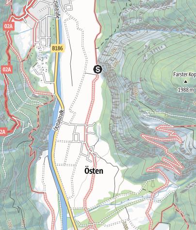 Karte / Klettergarten Tumpen Engelswand