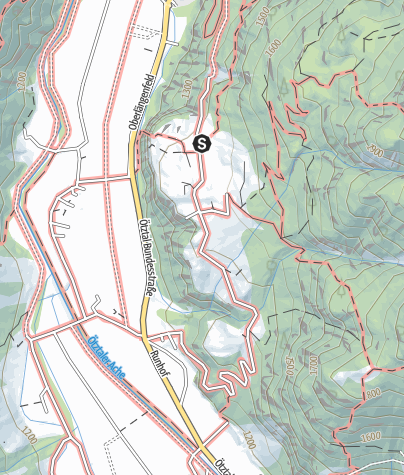 Karte / Klettergarten Burgsteinerwand - Längenfeld