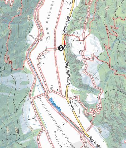 Karte / Klettersteig Reinhard Schiestl