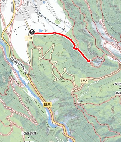 Karte / Klettersteig Stuibenfall