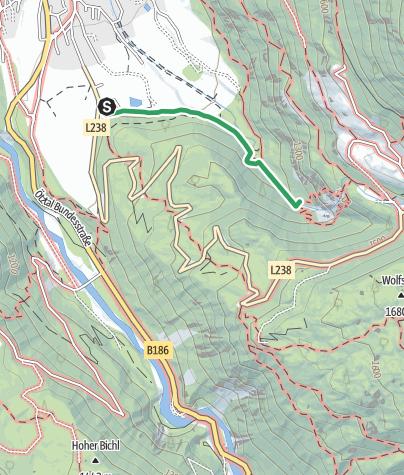 Map / Ferrata Stuibenfall