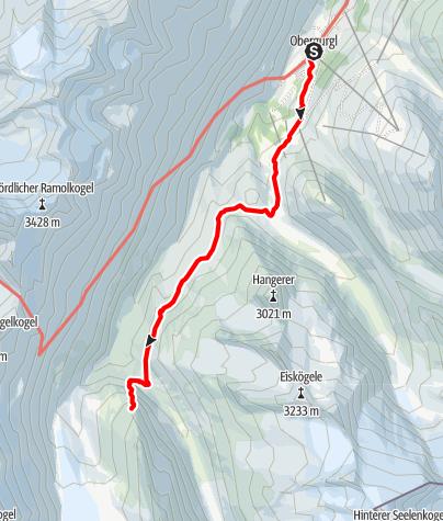 Karte / Klettersteig Schwärzenkamm