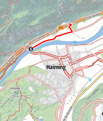 Map / Ferrata Haiming-Geierwand