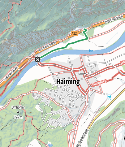 Map / Ferrata Haiming-Geierwand