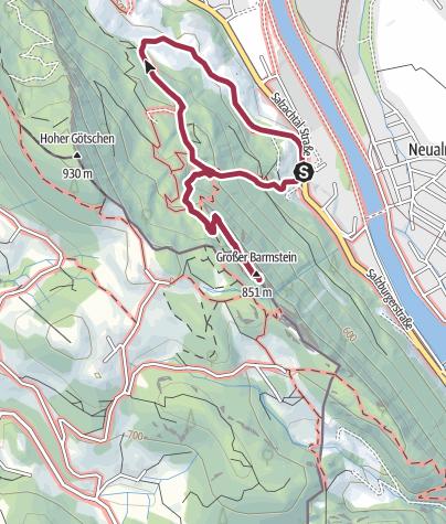 Karte / Von Kaltenhausen auf den Großen Barmstein