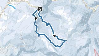 Map / Snowshoe tour Pietralba - Köser Valley - Neuhütt hut