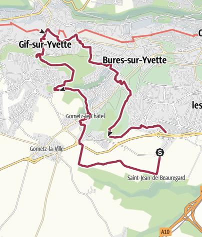 Map / Gometz le Chatel / Gif sur Yvette