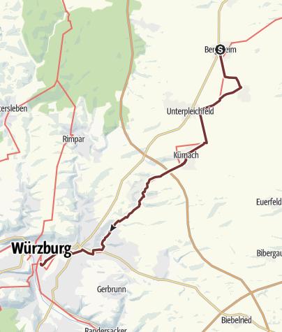 Karte / VIA ROMEA Bergtheim - Würzburg (35)