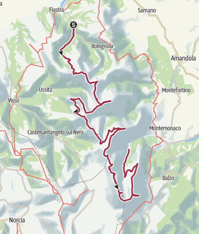 Map / Sibillini Nord/SUd