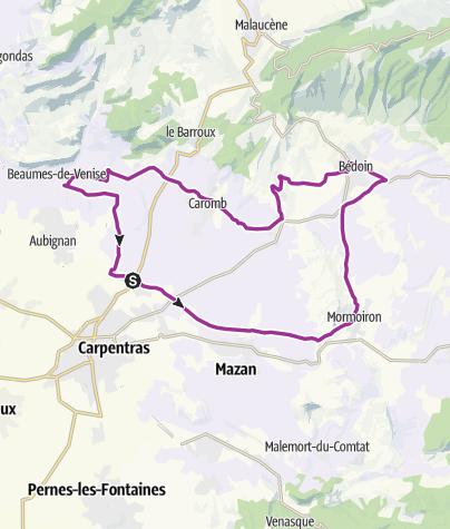 Map / Ventoux - Route 1
