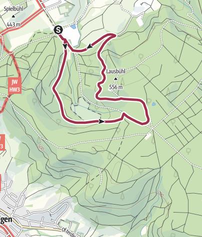 "Karte / Erlenrainrunde im Rottenburger Stadtwald ""Rammert"""