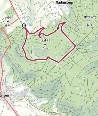 """Karte / Lausbühlrunde im Rottenburger Stadtwald """"Rammert"""""""