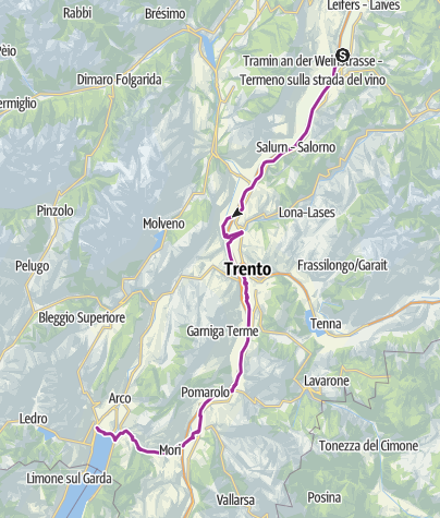 Map / Tour to the Garda Lake