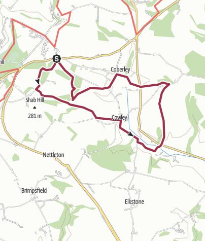 Map / Berber, Coberley, Cowley Circular