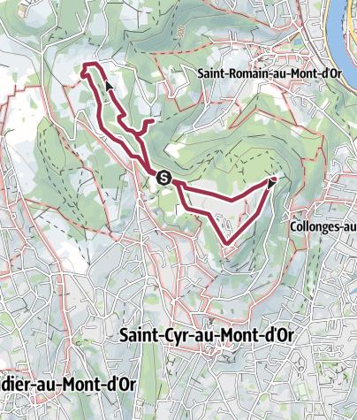 Map / Rando Homme et paysage Saint-Cyr-au-Mt-d'Or