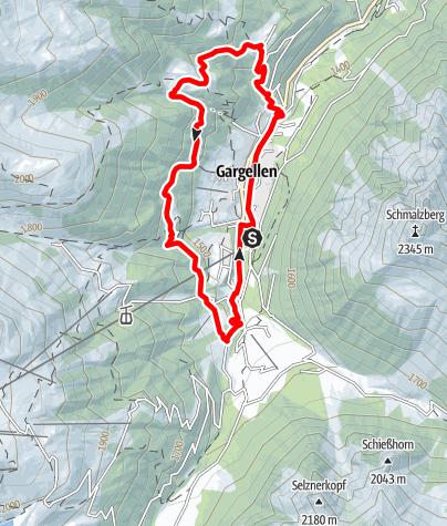 Karte / Röbi-Rüti Route Gargellen