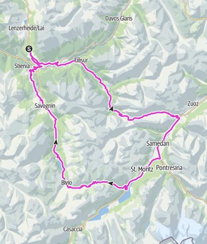 Karte / Alpen Challenge Lenzerheide – Kurzstrecke (Classic)