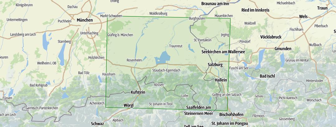 Karte Oberbayern.Oberbayern Bayerisches Voralpenland