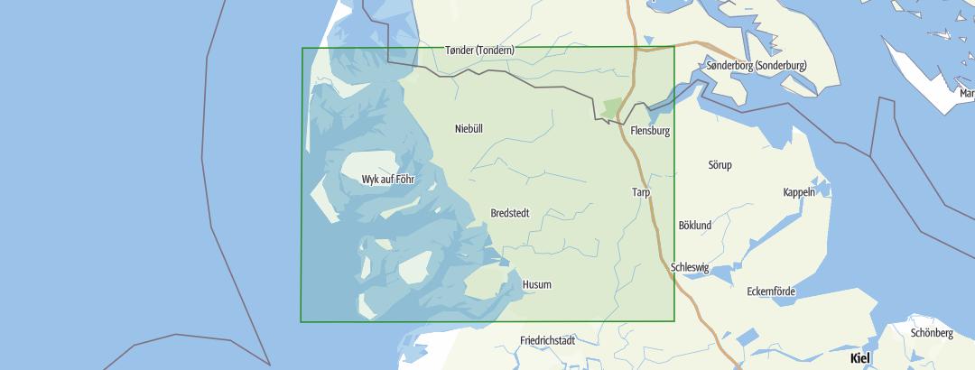 Nordfriesische Inseln Karte.Nordfriesland Und Nordfriesische Inseln