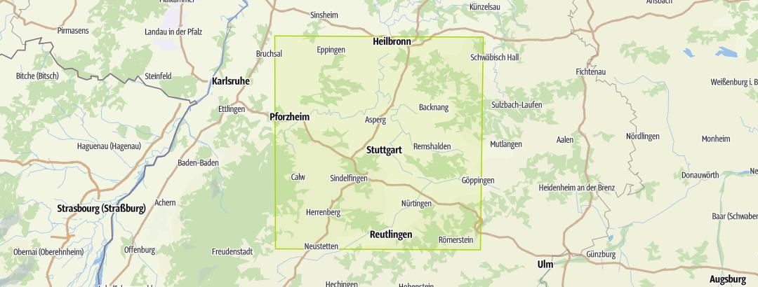 Karte / Genusswandern, Rund um Stuttgart (WF)