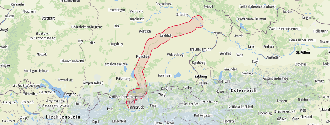Bundesl303244nder Karte Ohne Namen.Isarradweg Karte
