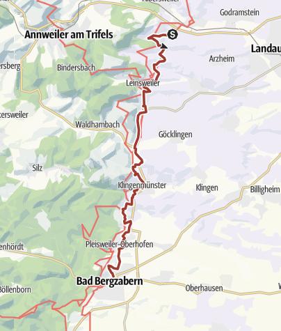 Karte / Pfälzer Mandelpfad Etappe 04 Birkweiler - Bad Bergzabern