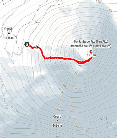 Karte / Montanha do Pico (2351m)