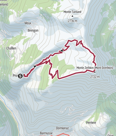 Map / Promiod - Monte Zerbion