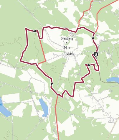 Map / redigeret rute Vrads Sande
