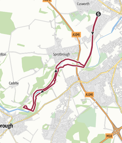 Map / Sprotbrough to Conisbrough viaduct Loop