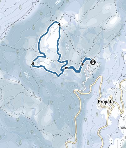 Map / caprile percorso ciaspolatacai samp.na